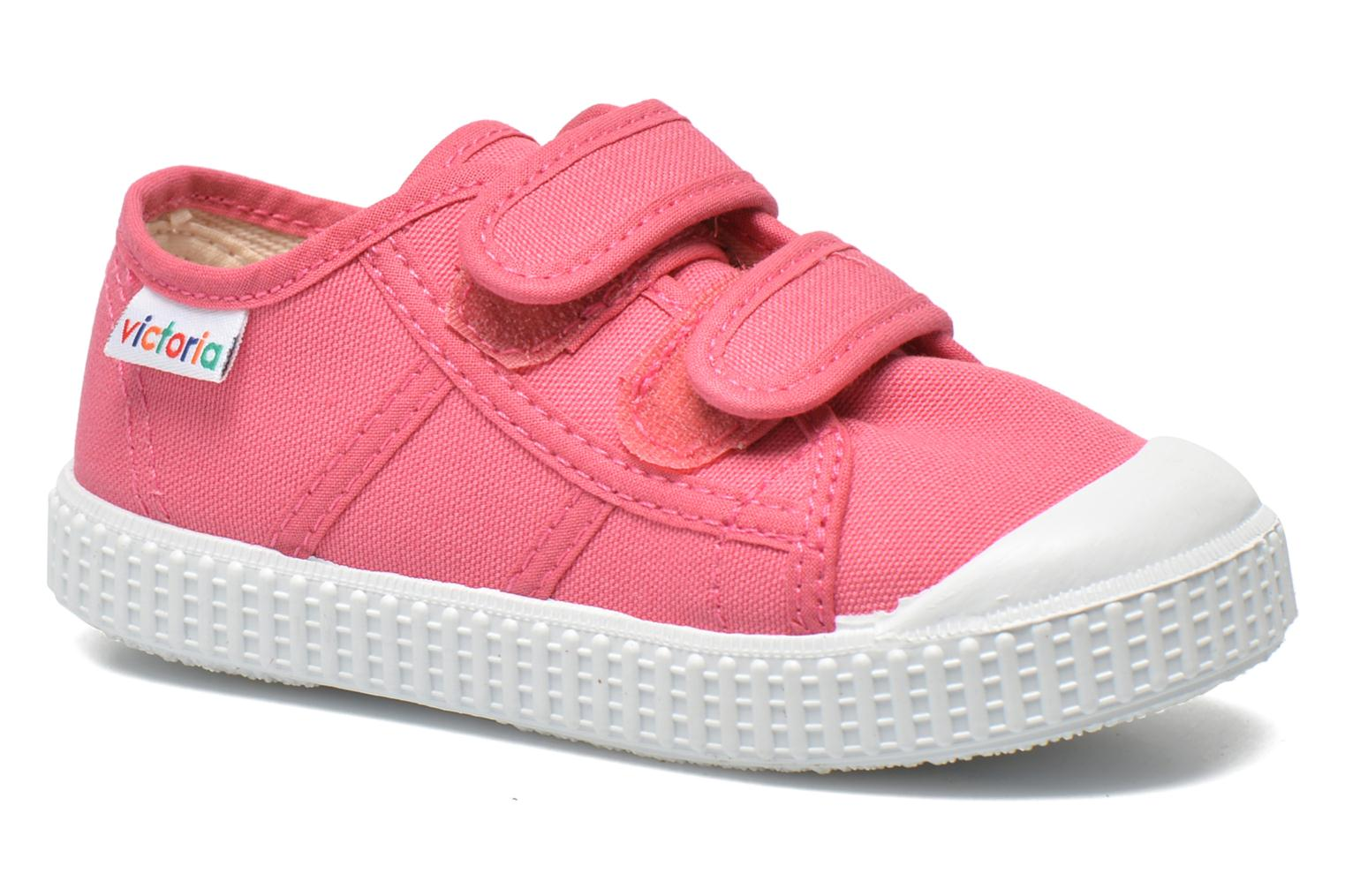 Trainers Victoria Basket lona Dos Velcos Pink detailed view/ Pair view