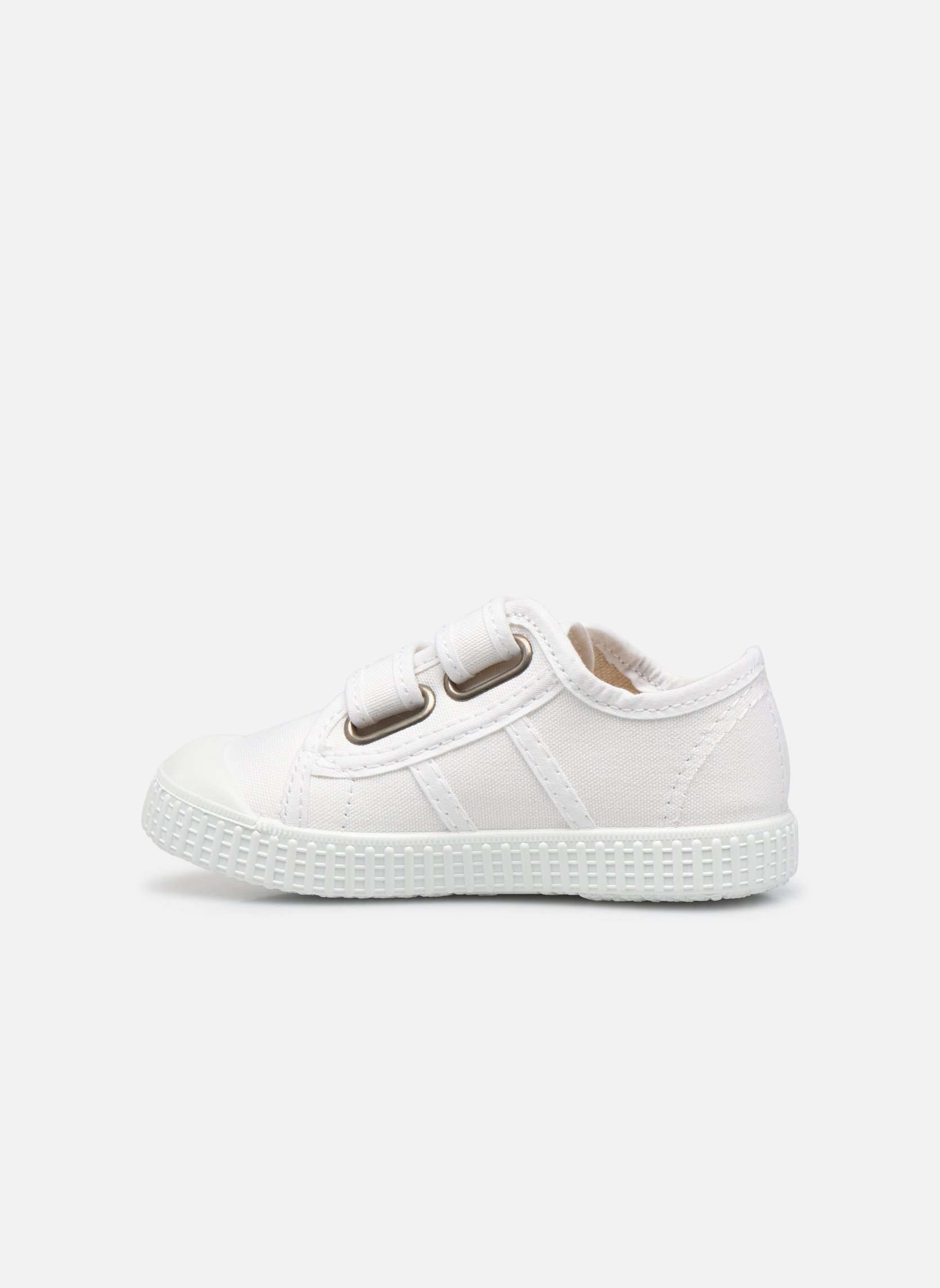 Trainers Victoria Basket lona Dos Velcos White front view