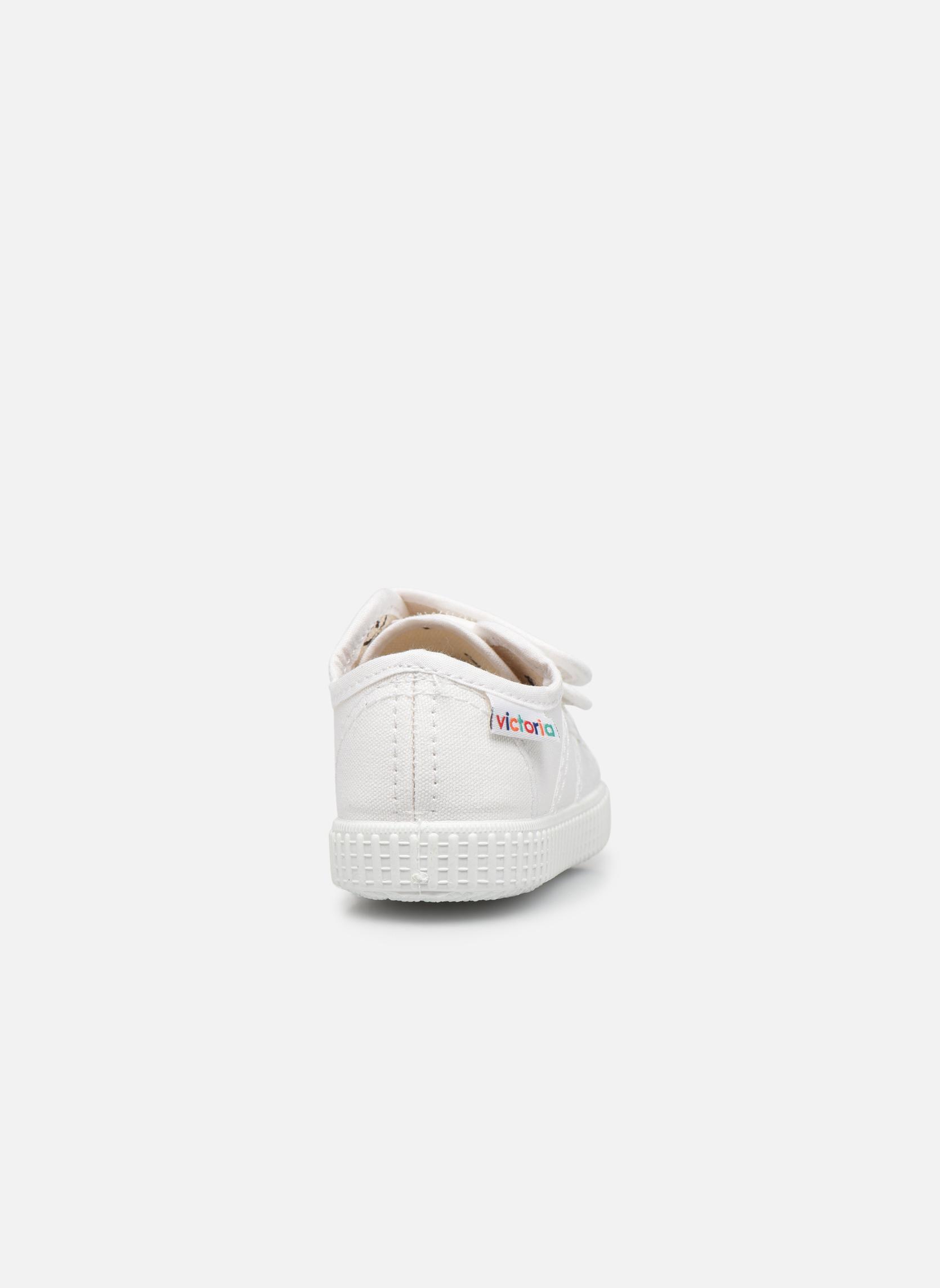 Basket lona Dos Velcos Blanco