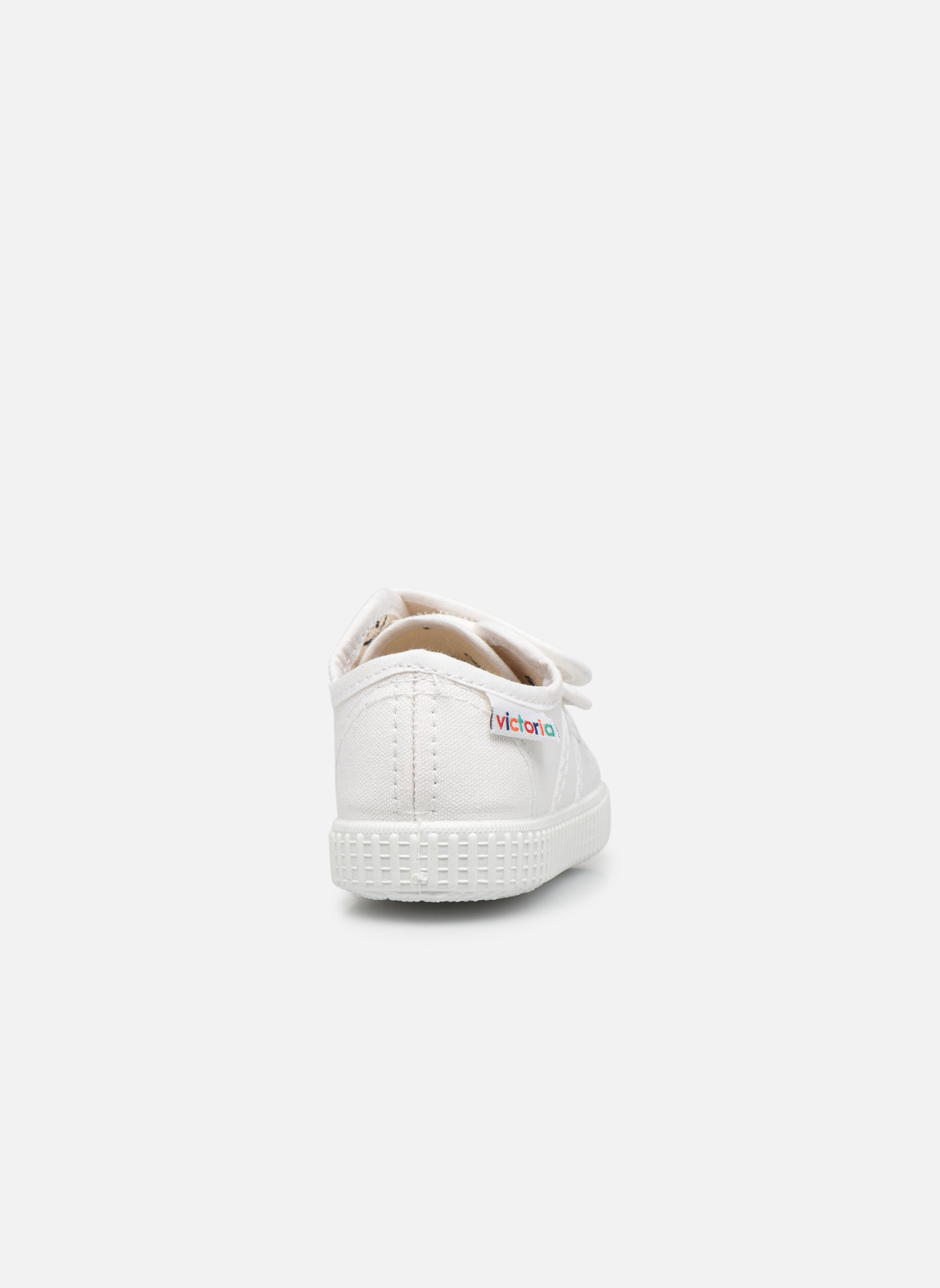 Trainers Victoria Basket lona Dos Velcos White view from the right