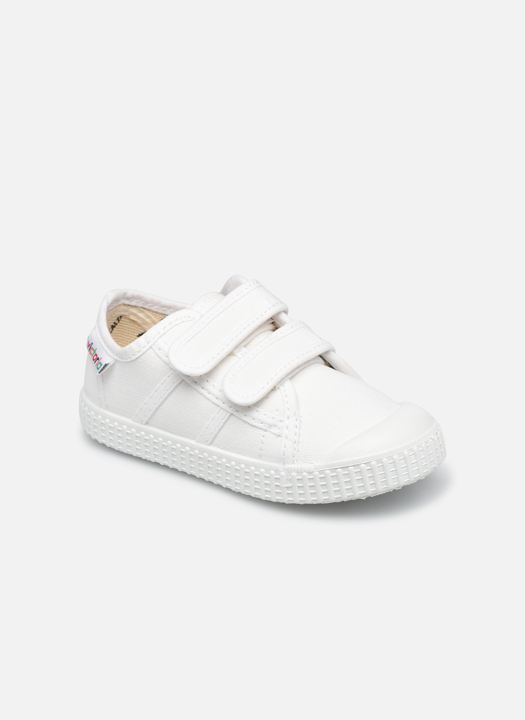 Trainers Victoria Basket lona Dos Velcos White detailed view/ Pair view