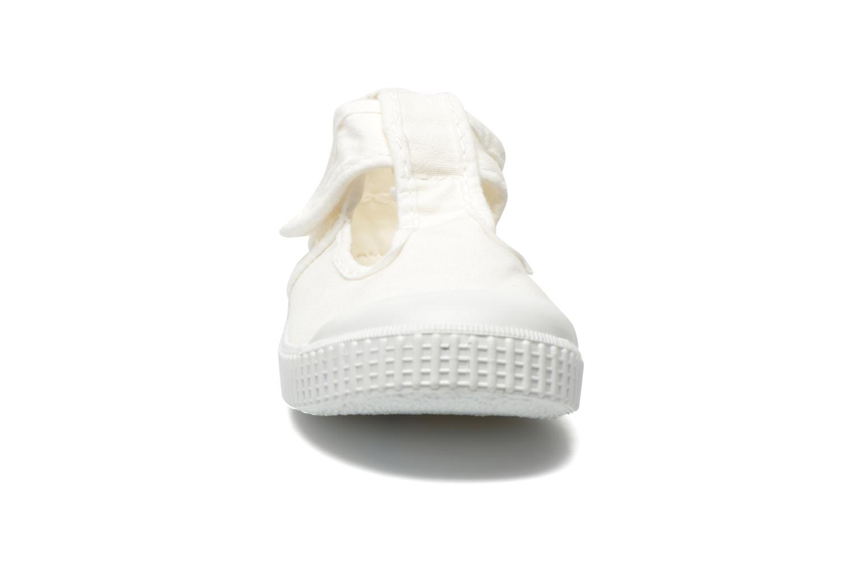 Sneaker Victoria Sandalia Lona Tintada Velcr weiß schuhe getragen