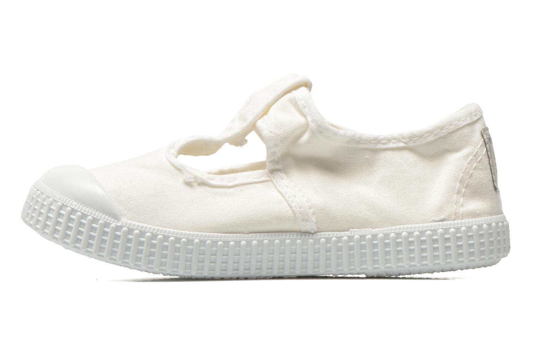 Sneaker Victoria Sandalia Lona Tintada Velcr weiß ansicht von vorne