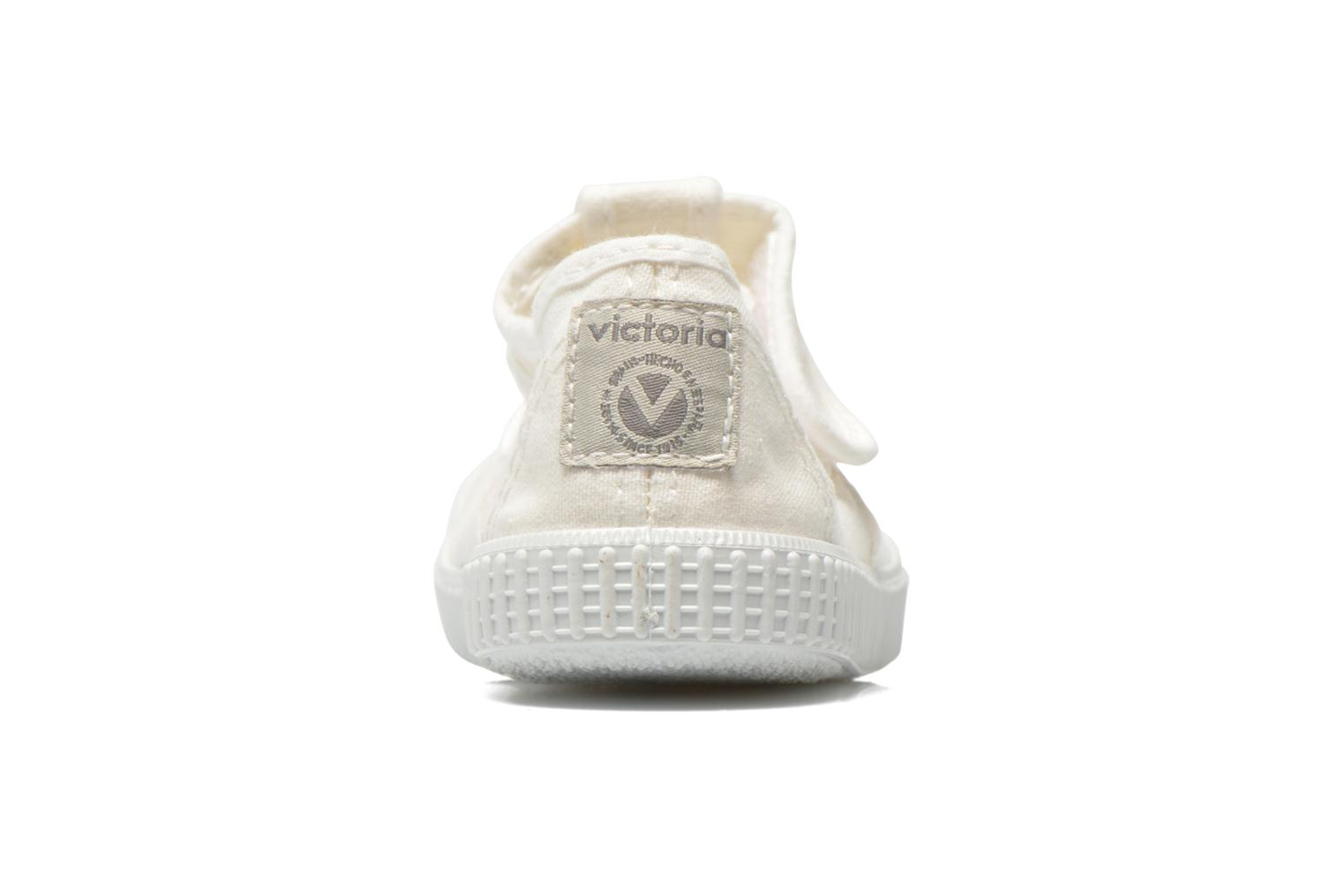 Trainers Victoria Sandalia Lona Tintada Velcr White view from the right