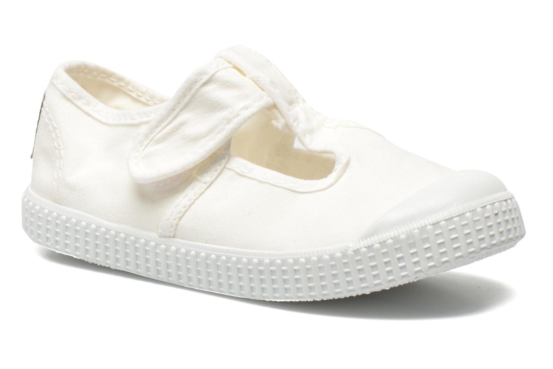 Sandalia Lona Tintada Velcr Blanco