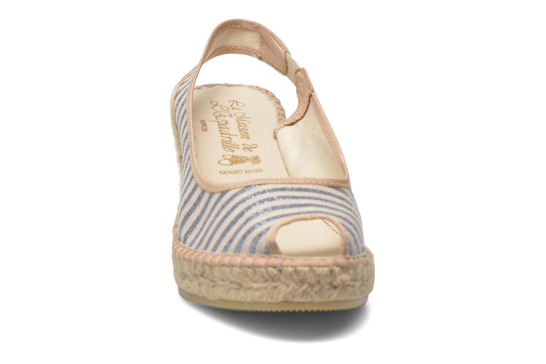 Sandales et nu-pieds La maison de l'espadrille Compensée 234 Multicolore vue portées chaussures