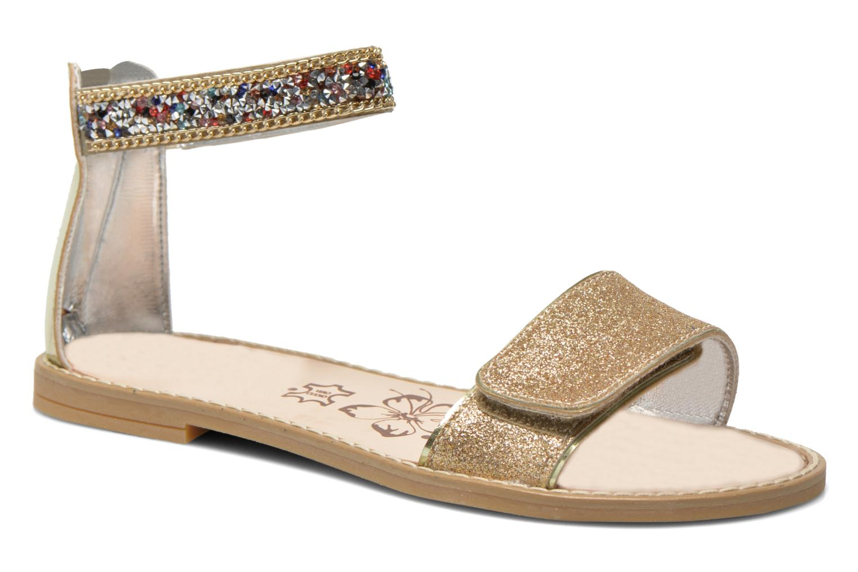 Sandals Primigi Karine Bronze and Gold detailed view/ Pair view