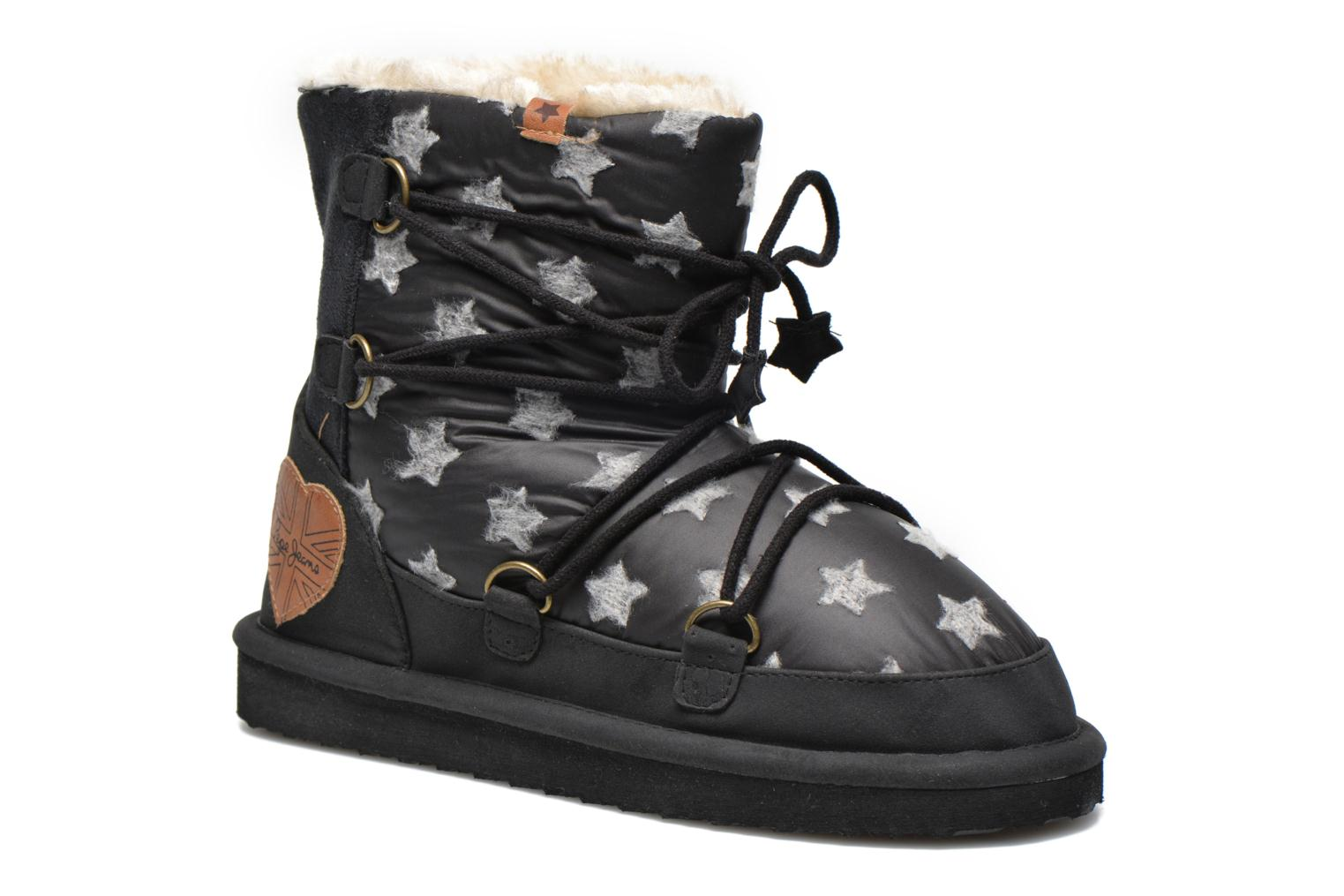 Ankle boots Pepe jeans Angel Stars Black detailed view/ Pair view