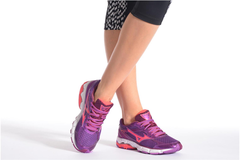 Chaussures de sport Mizuno Wave Connect 3 W Violet vue bas / vue portée sac