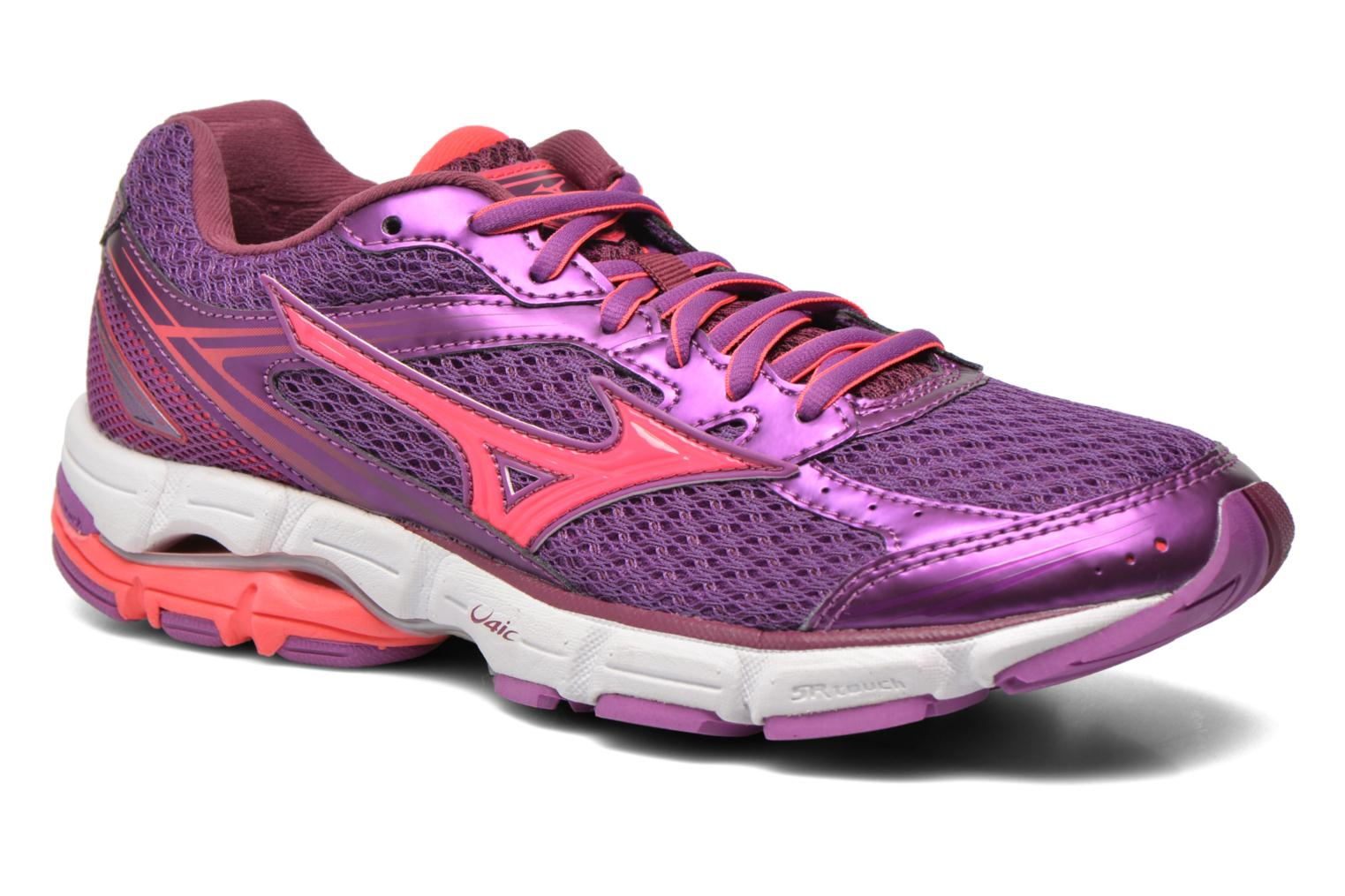 Sport shoes Mizuno Wave Connect 3 W Purple detailed view/ Pair view
