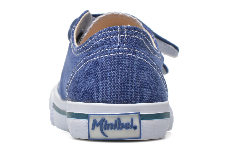 Baskets Minibel Estival Bleu vue droite