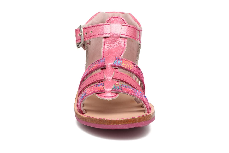 Sandales et nu-pieds Minibel Keglae Rose vue portées chaussures