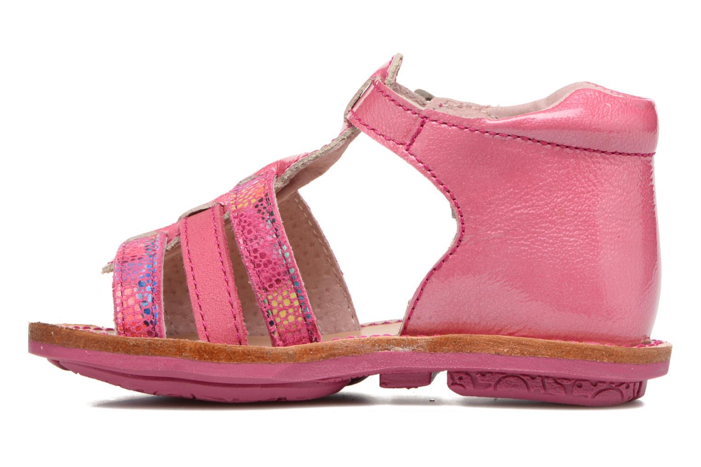 Sandales et nu-pieds Minibel Keglae Rose vue face