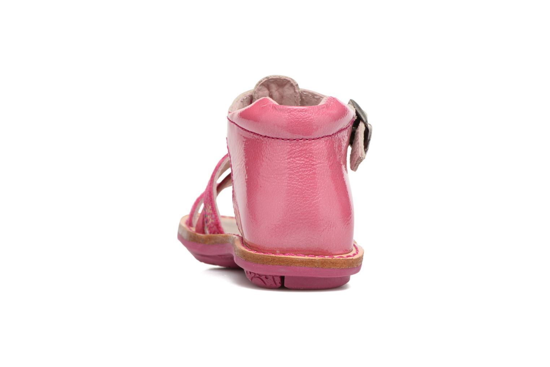 Sandales et nu-pieds Minibel Keglae Rose vue droite