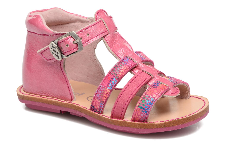 Sandales et nu-pieds Minibel Keglae Rose vue détail/paire