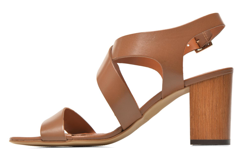 Sandales et nu-pieds Georgia Rose Baton Marron vue face