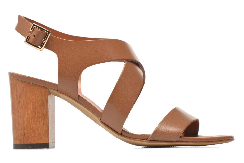 Sandales et nu-pieds Georgia Rose Baton Marron vue derrière