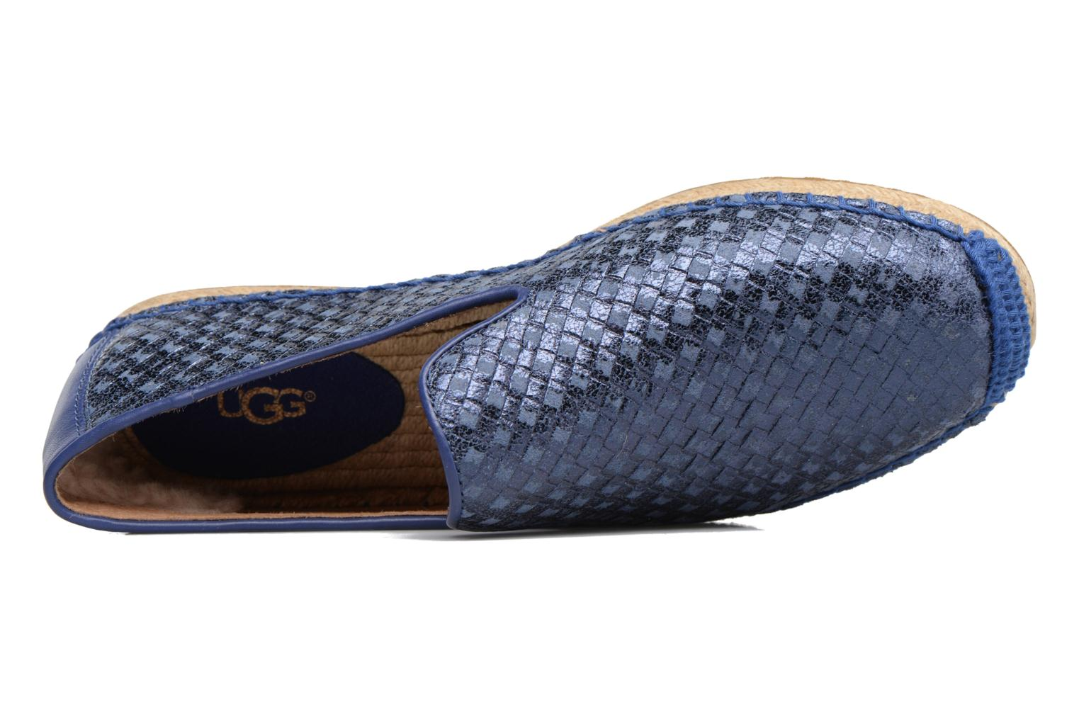 Espadrilles UGG Sandrinne Metallic Basket Blauw links