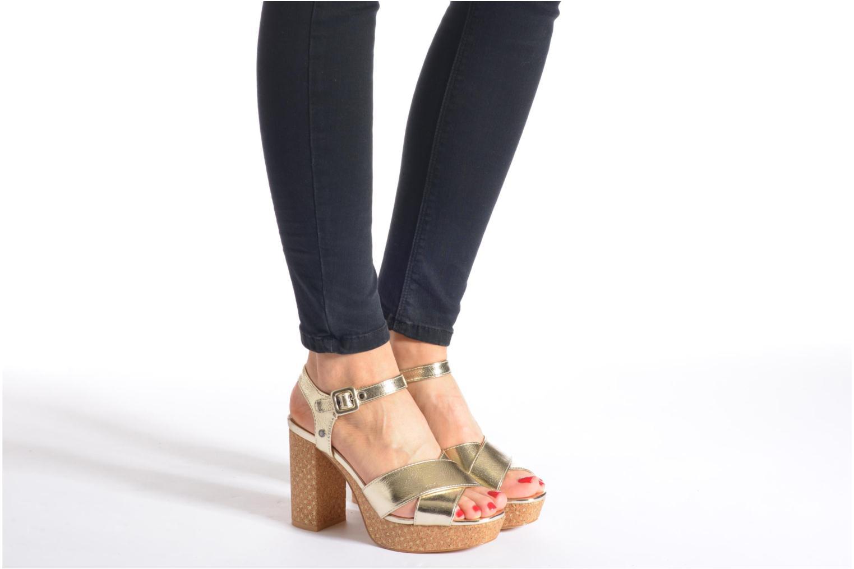 Sandalen Pepe jeans Grace Shine silber ansicht von unten / tasche getragen