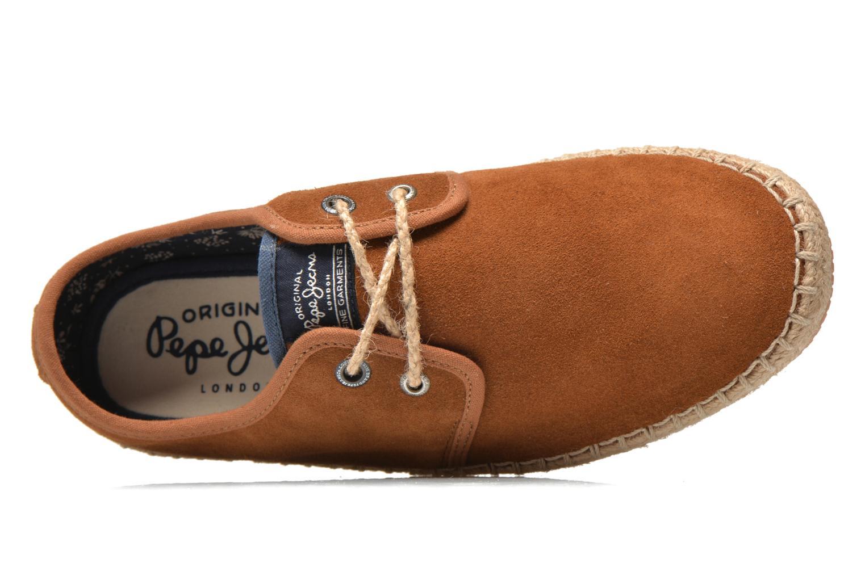 Chaussures à lacets Pepe jeans Tourist Basic 2 Marron vue gauche
