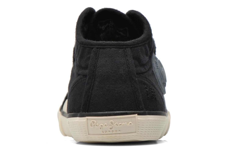 Baskets Pepe jeans Industry Deep Dye Noir vue droite