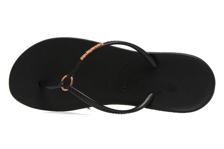 Tongs Havaianas Ring Noir vue gauche