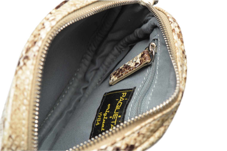 Sacs à main Paquetage Micro Sac Serpent Beige vue derrière