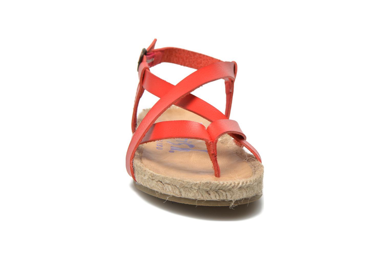 Sandales et nu-pieds Blowfish Granola Rope Rouge vue portées chaussures