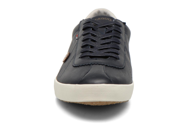Baskets Faguo Spindle Leather Bleu vue portées chaussures