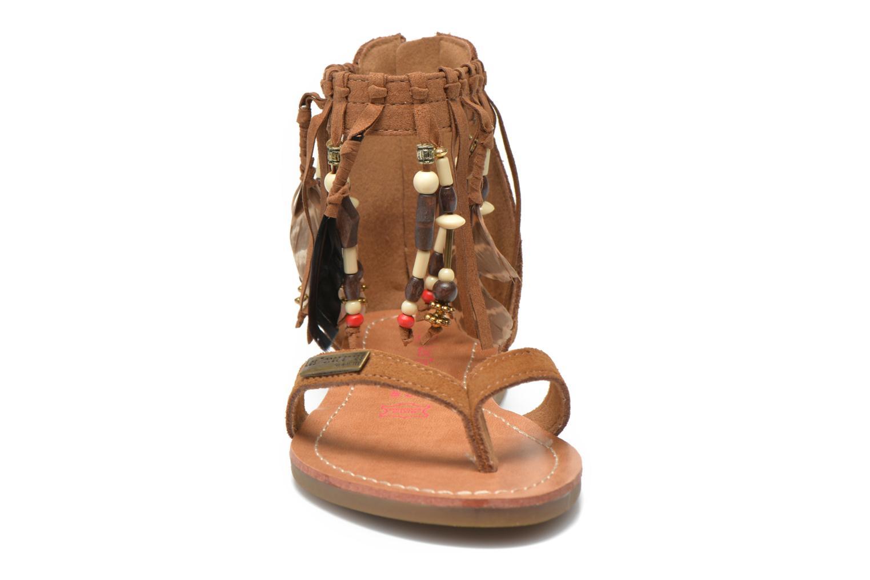 Sandales et nu-pieds Les Tropéziennes par M Belarbi Gopak E Marron vue portées chaussures