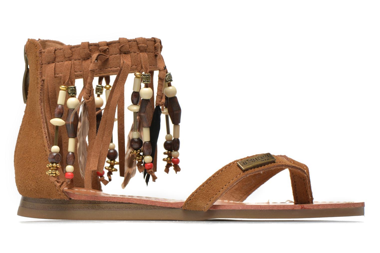Sandales et nu-pieds Les Tropéziennes par M Belarbi Gopak E Marron vue derrière