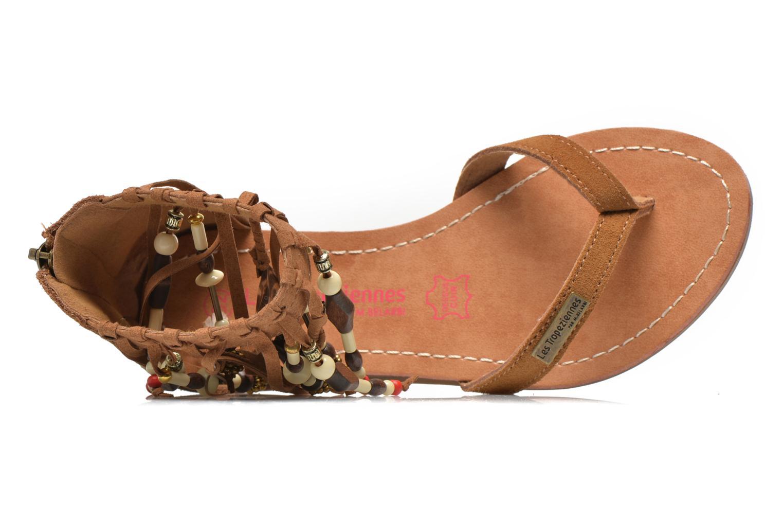 Sandales et nu-pieds Les Tropéziennes par M Belarbi Gopak E Marron vue gauche