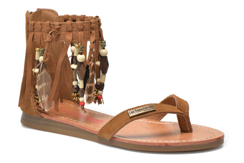 Sandales et nu-pieds Les Tropéziennes par M Belarbi Gopak E Marron vue détail/paire