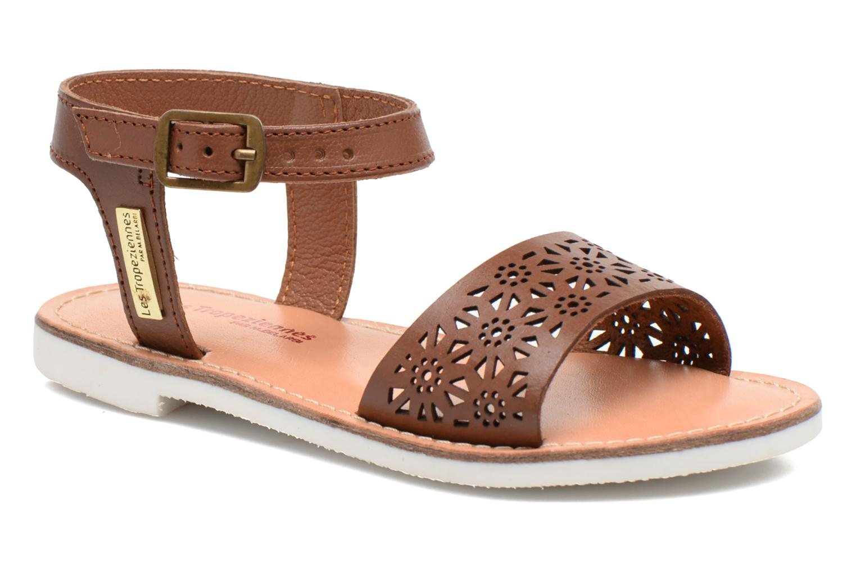 Sandales et nu-pieds Les Tropéziennes par M Belarbi Mandy Marron vue détail/paire