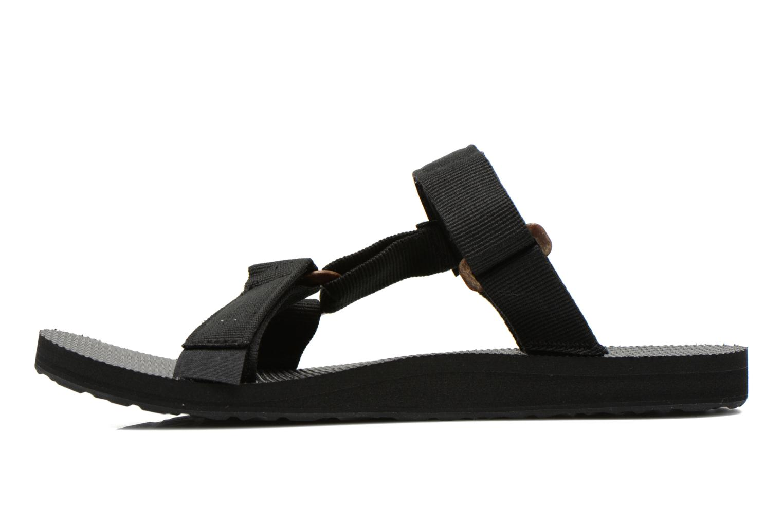 Sandalias Teva Universal Slide Negro vista de frente