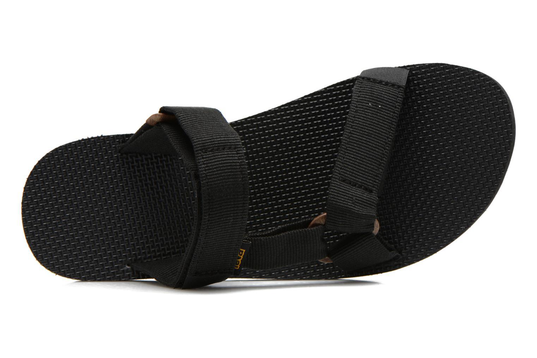 Sandalias Teva Universal Slide Negro vista lateral izquierda