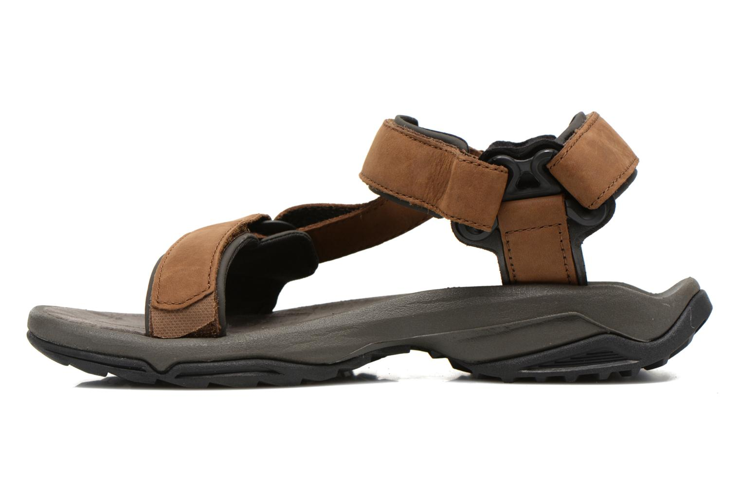 Sport shoes Teva Terra Fi Lite Leather Brown front view