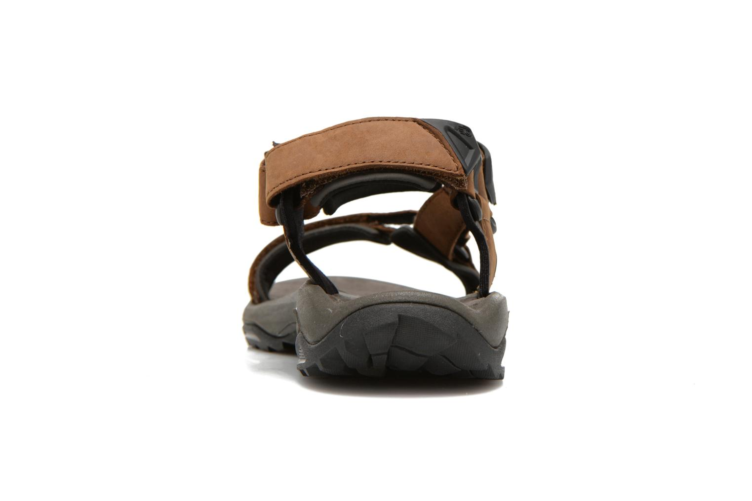 Sport shoes Teva Terra Fi Lite Leather Brown view from the right