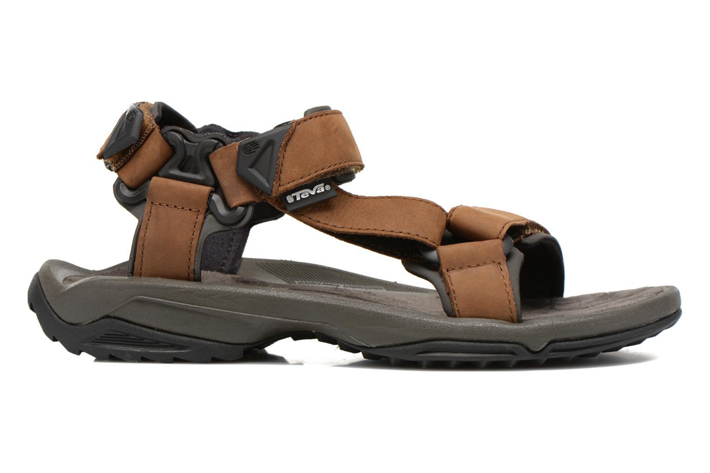 Sport shoes Teva Terra Fi Lite Leather Brown back view