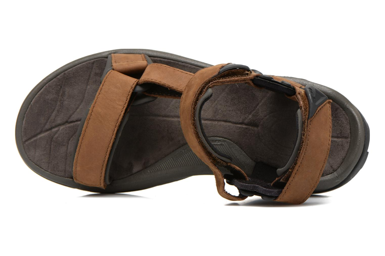 Sport shoes Teva Terra Fi Lite Leather Brown view from the left