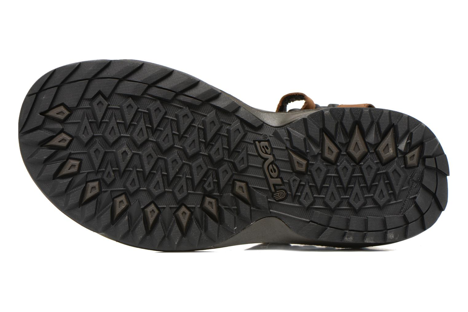Sport shoes Teva Terra Fi Lite Leather Brown view from above
