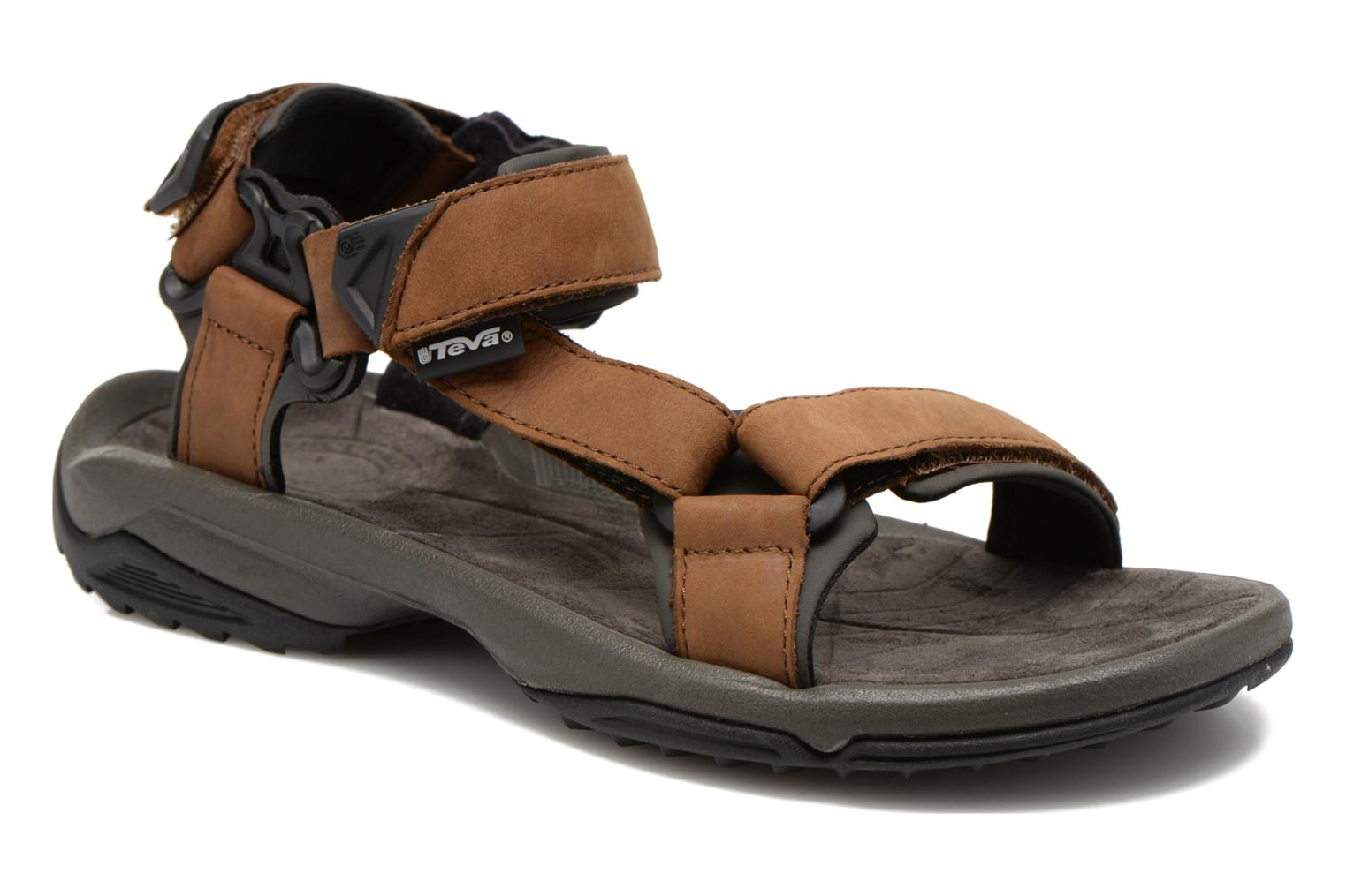 Sport shoes Teva Terra Fi Lite Leather Brown detailed view/ Pair view
