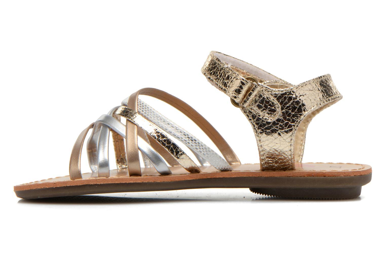 Sandales et nu-pieds NA! Farandol Or et bronze vue face