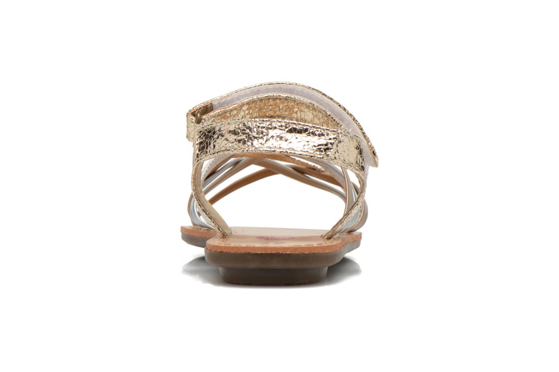 Sandales et nu-pieds NA! Farandol Or et bronze vue droite