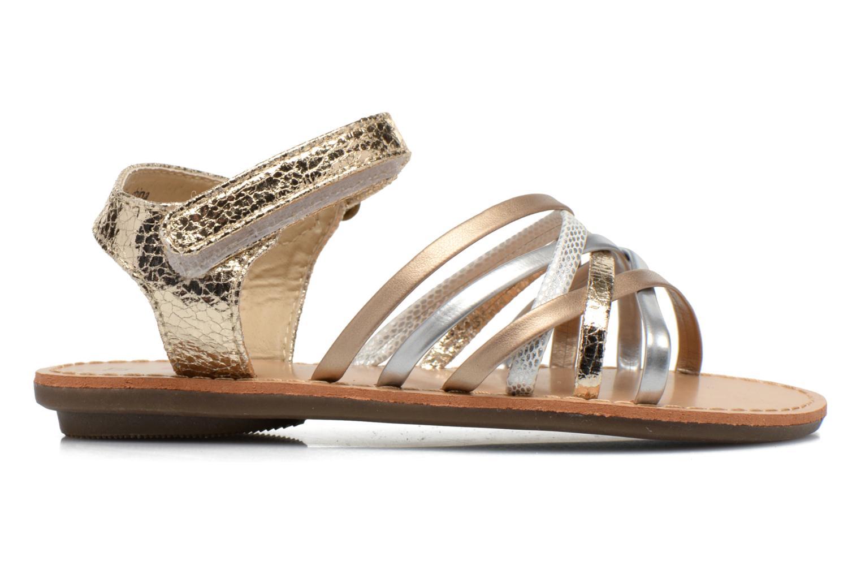 Sandales et nu-pieds NA! Farandol Or et bronze vue derrière