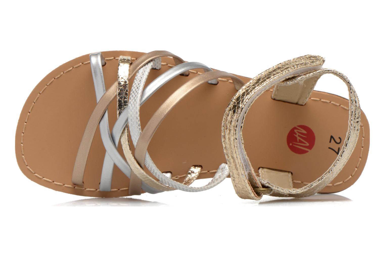 Sandales et nu-pieds NA! Farandol Or et bronze vue gauche