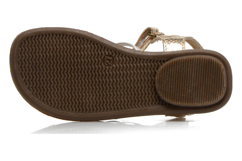 Sandales et nu-pieds NA! Farandol Or et bronze vue haut