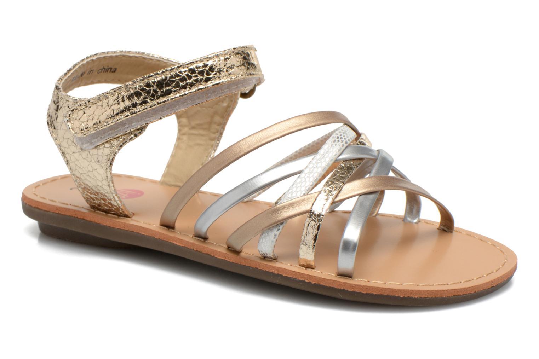 Sandales et nu-pieds NA! Farandol Or et bronze vue détail/paire