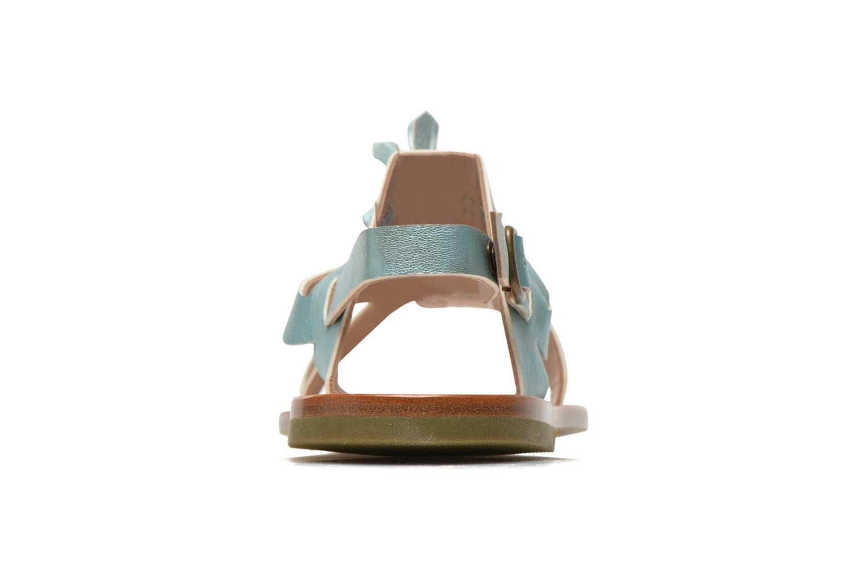 Sandales et nu-pieds PèPè Luna Bleu vue droite