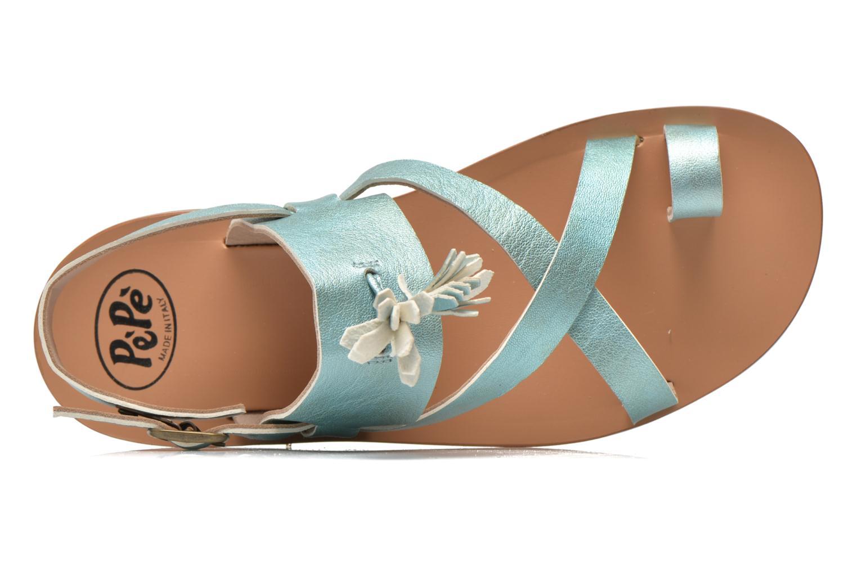 Sandales et nu-pieds PèPè Luna Bleu vue gauche